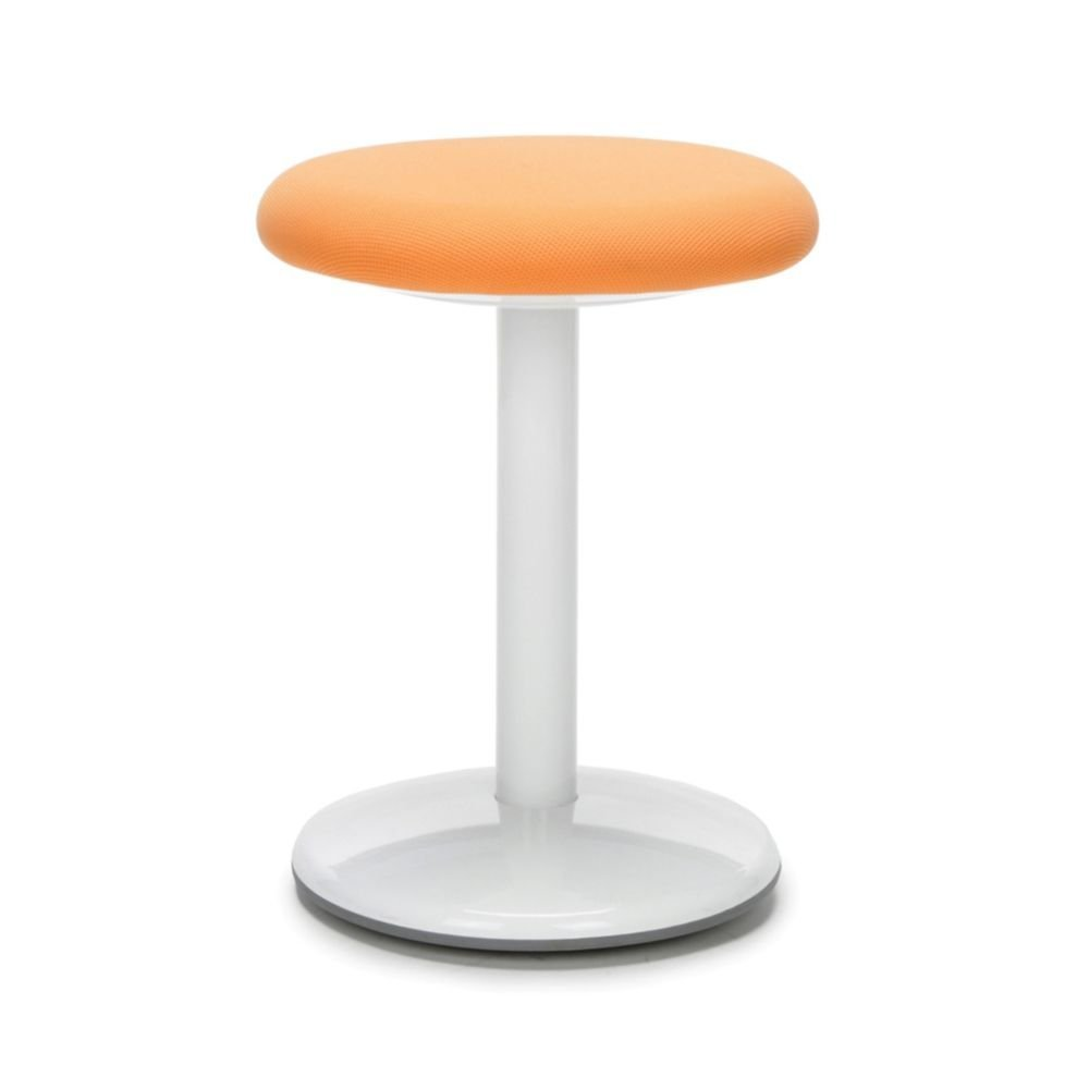 """Active Fabric Stool 18""""H Orange Fabric Dimensions: 18""""H x 13"""" Diameter Weight: 9 lbs"""