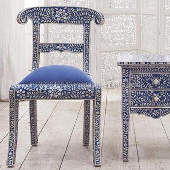 Beau Bone Inlay Chair,Bone Inlay Furniture