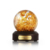 High End Geen Bel Geen Kras Custom Real Gold Vlokken Sneeuw Bal Souvenir Glas Water Globe