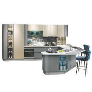 Custom North American Project Modern Lacquer Small Kitchen Designs