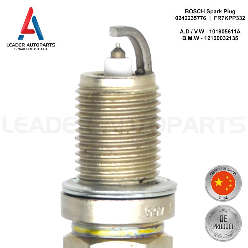 Bosch Spark Plug Platinum FR7KPP332 0242235776 x1