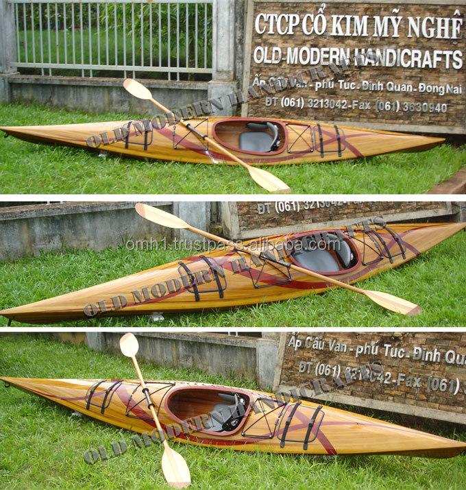 Handmade Wooden Boat Real Kayak Grc02 15