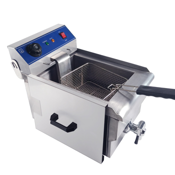 Nice product commercial automatic small manual marine red deep fryer&DLT-10V