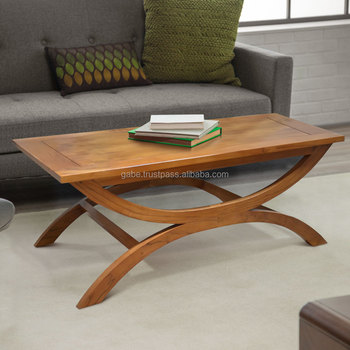 Incroyable Coffee Table TURTLE Minimalist Natural Teak Wood Furniture Indonesia