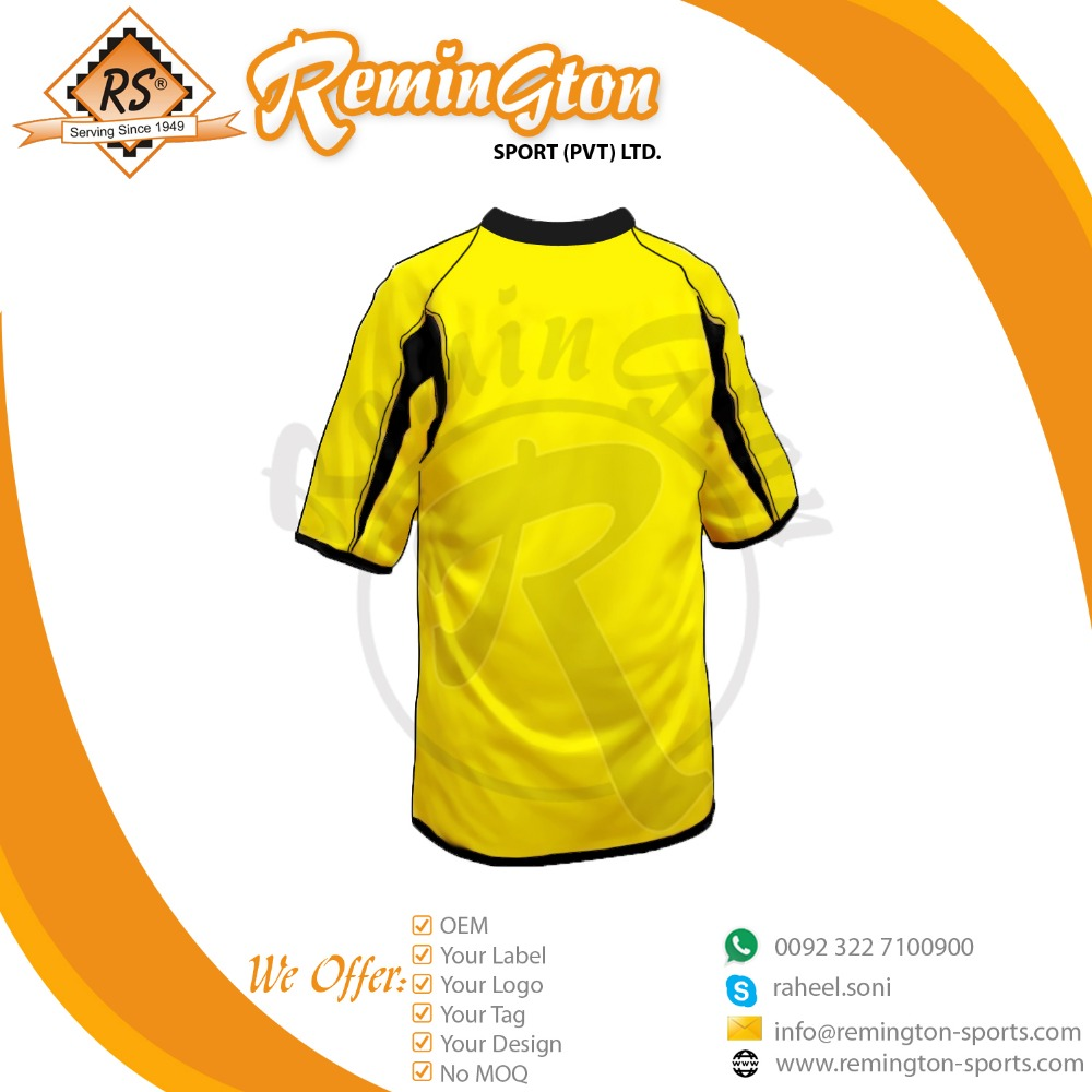 RSS-20 Football Club Team Cheap T-Shirt- Available All Sizes color yellow with customized design
