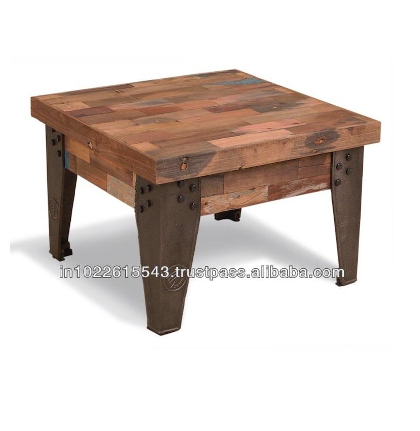 Industrial Vintage Metal Wood Coffee Tablevintage Reclaimed Wood Coffee Table Buy Rustic Wood Coffee Tabledistressed Wood Coffee Tablesquare