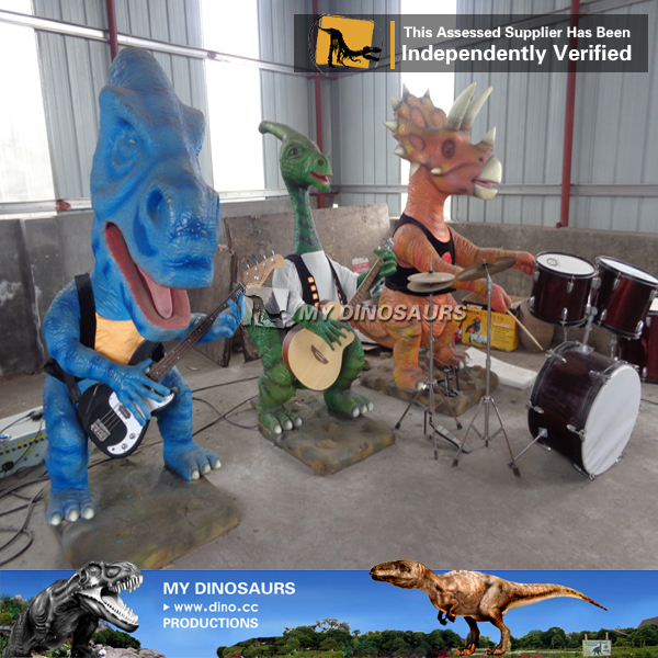 My-dino outdoor fiberglass hero statue