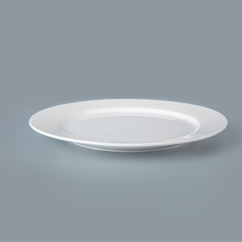 product-Two Eight-14 Inch White Dinner Plate, White Porcelain Crockery Hotel Porcelain Plates-img