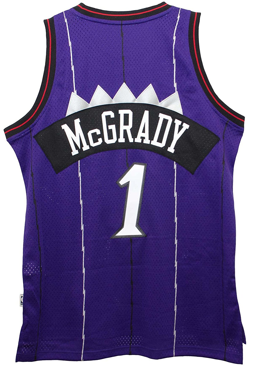 Get Quotations · Tracy McGrady Toronto Raptors Purple Throwback Swingman  Jersey c6165910a