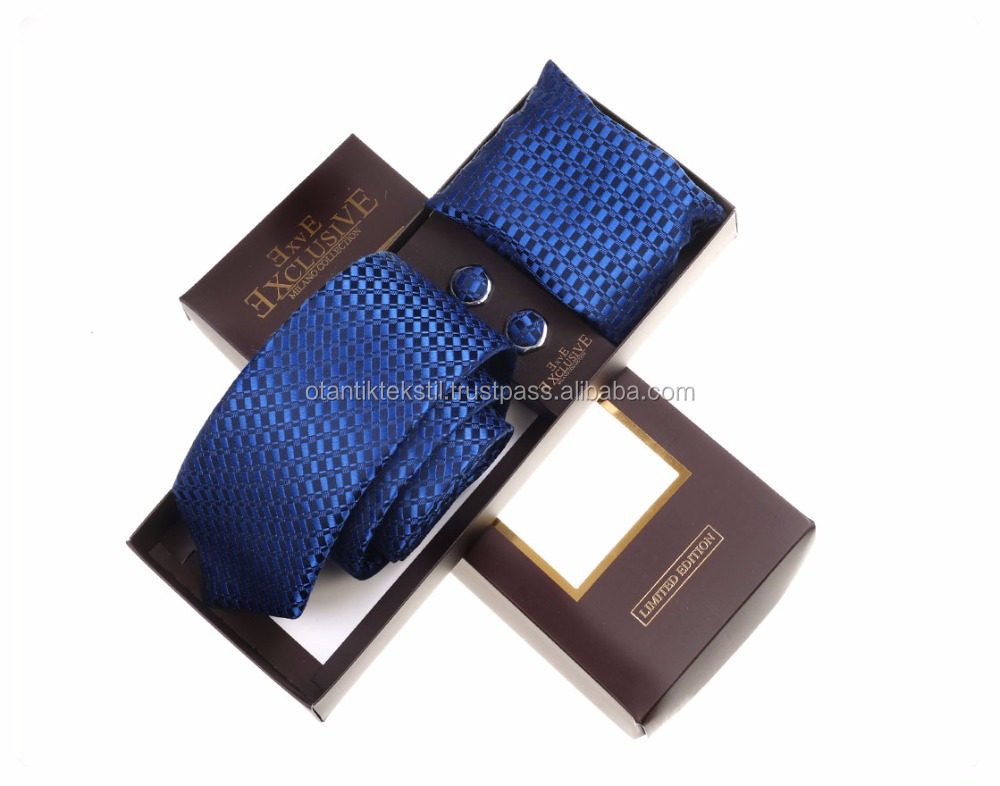 Blue Set, Necktie with pocket square and cufflink set neck tie, corbata, gravate, krawatte, cravatta, fashion tie