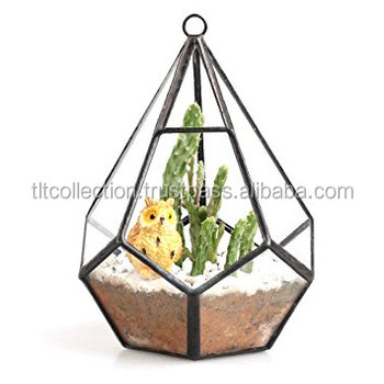 flowers artificial wedding metal rose gold copper glass terrarium geometric