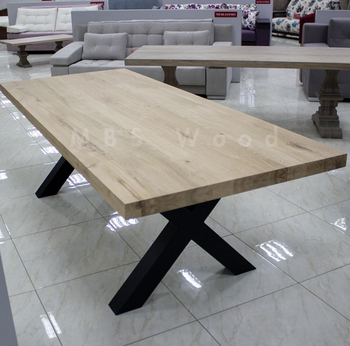 Euro Style Reclaimed Wood Handcrafted Trestle Dining Table Oak Dinning Console Product On Alibaba