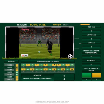 Virtual football game Penalty for land