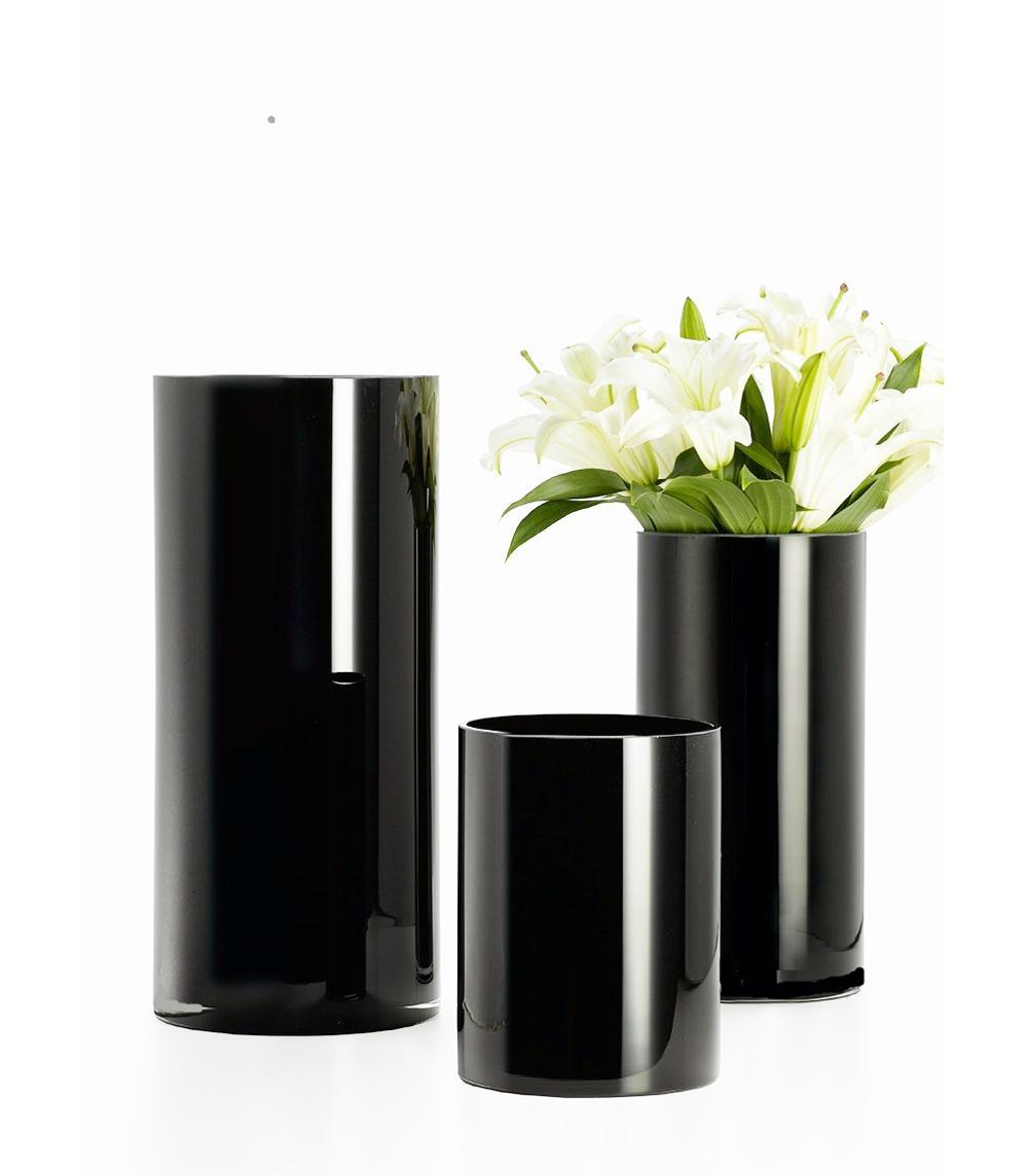 240 & New Arrival ! Black Long Cylinder Flower Vase For Wedding Decoration - Buy Restaurant Table Flower VaseBlack Vases For WeddingLarge Flower Vases ...