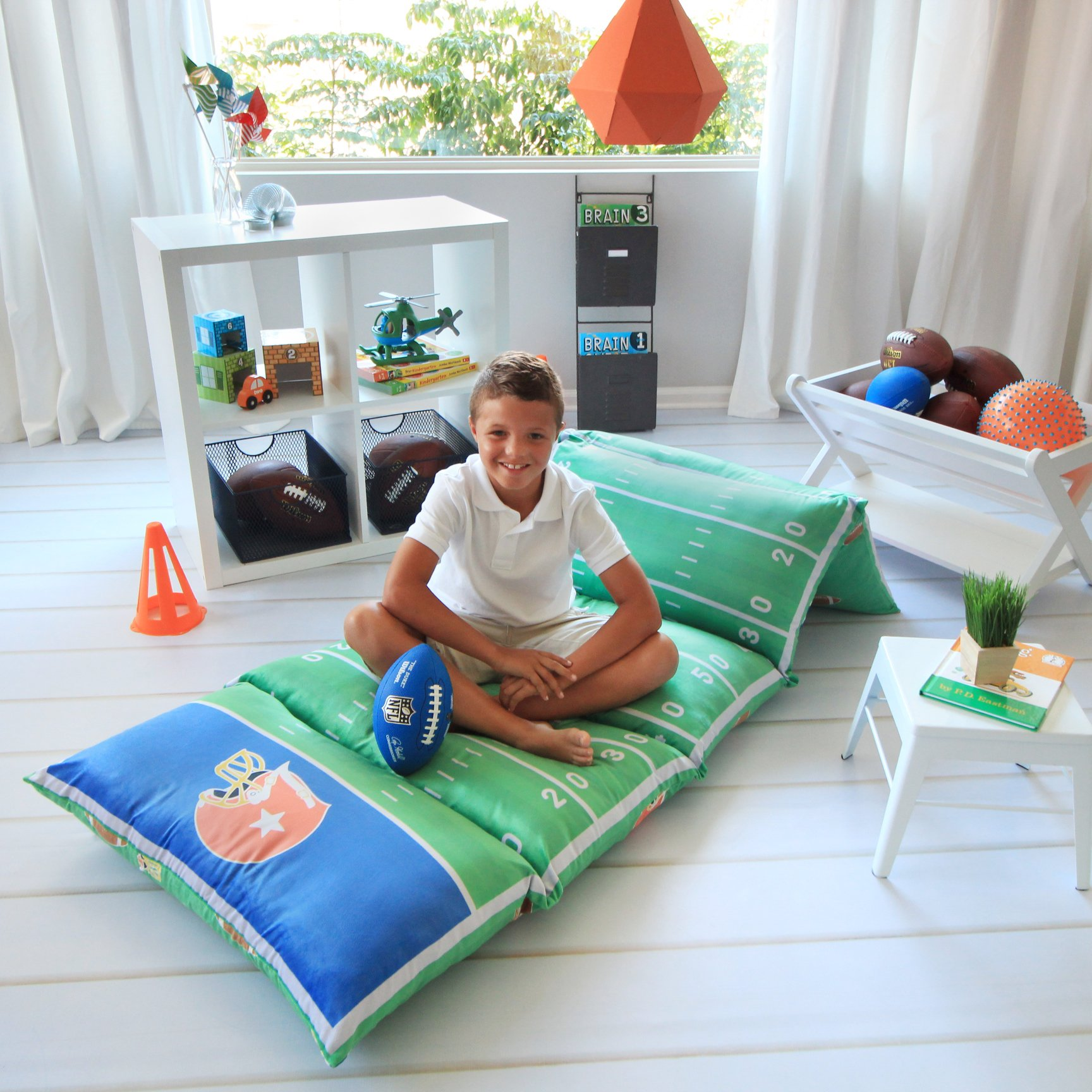Buy Kids Floor Pillow Bed Cover - Use as Nap Mat, Portable ...