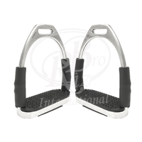 Flexible Double Jointed English Fillis Stirrup Irons Set S.S