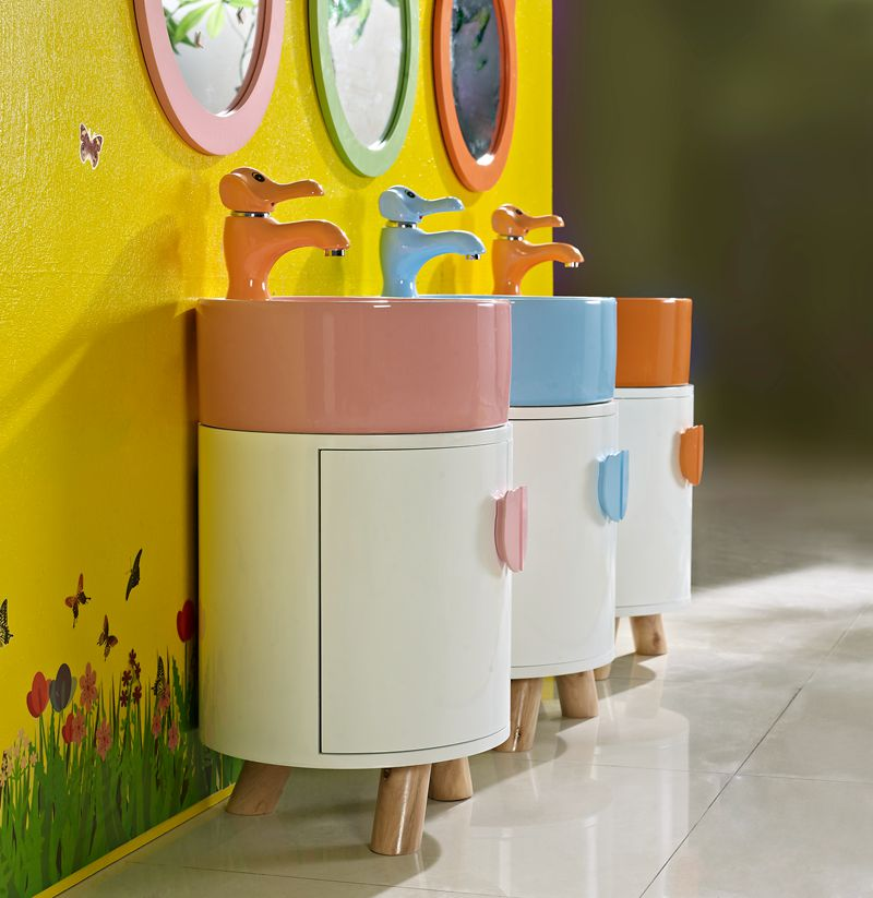 child smooth edge stand floor lowes cylindrical PVC plastic bathroom cabinet for storage