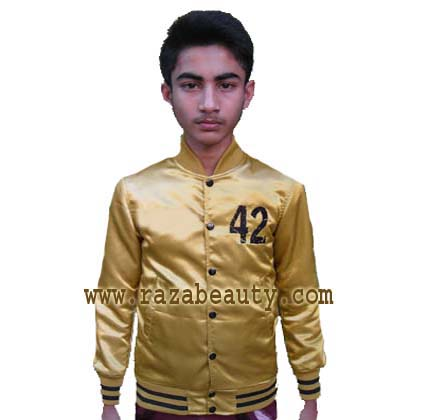 Kids Gold Varsity Jackets,Custom Embroidery Satin Baseball Jackets ...