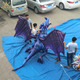 3m hanging inflatable flying dragon,custom inflatable animal