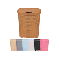 Best Quality Factory Price Pp Plastic Rattan Laundry Hamper Basket