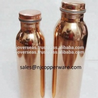 Traveller's Pure Copper YOGA Water Bottle for Ayurvedic Health Benefits Leak Proof
