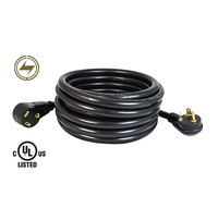 RV Power extension cord 30AMP Plug Male TT-30P to 30A Female TT-30 25FT
