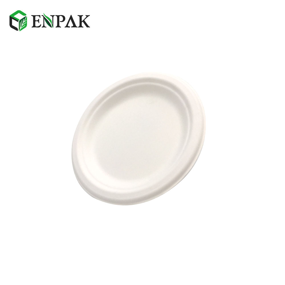 Biodegradable plates Compostable Bagasse pulp Disposable Plate