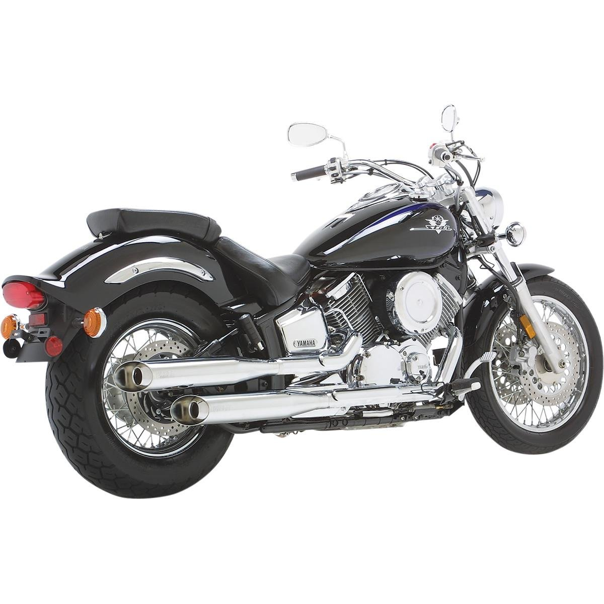 Vance and Hines Classic II Dual Slip-On Exhaust for Yamaha 1999-2009 V-Star 110 - One Size