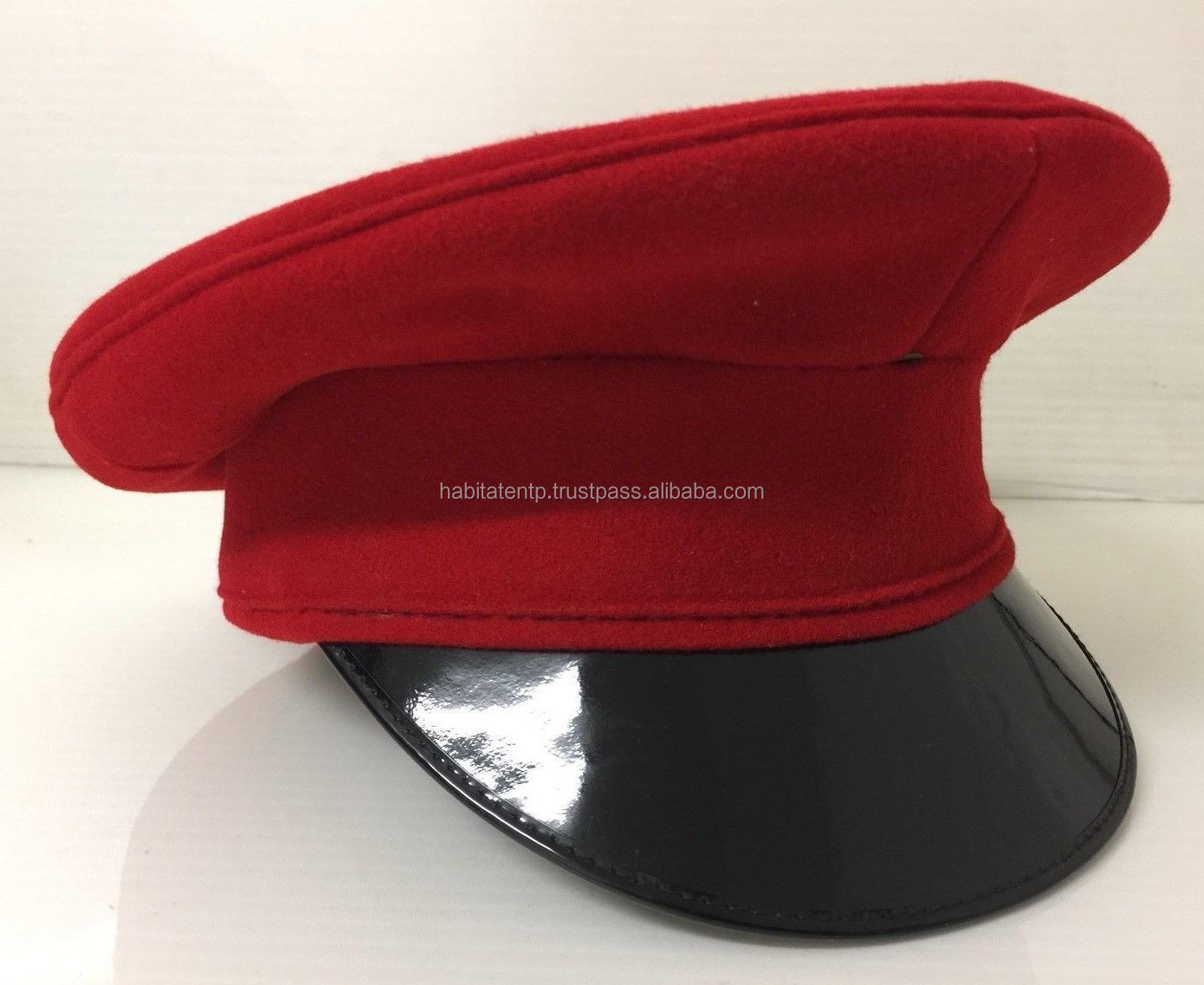 Queens Royal Hussars Dress Peaked Cap British Army Issue - Buy Red ... 8edcdb07cb1