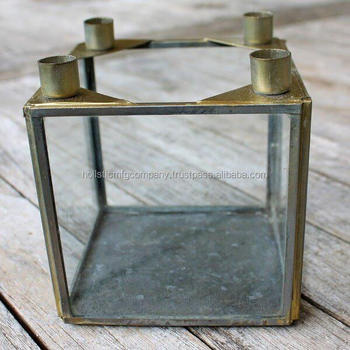 Attractive Decorative Glass Candle Storage/candle Box