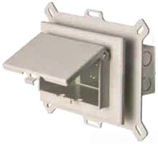 Arlington DBHS1W Textured UV Rated Plastic 1-Gang Recessed Non-Metallic Low Profile Box 9.058 Inch x 7.012 Inch x 5.16 Inch 22 Cubic-Inch In-Box™