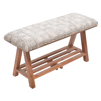 Superb Contemporary Square Printed Rug Upholstered Wooden Storage Bench Buy Wooden Bench Indoor Storage Bench Outdoor Wood Bench Product On Alibaba Com Machost Co Dining Chair Design Ideas Machostcouk
