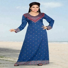 Indian casual wear jurken voor party krip kaftan caftan