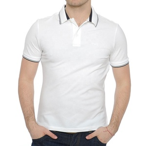 Tailored fit office work polo shirt