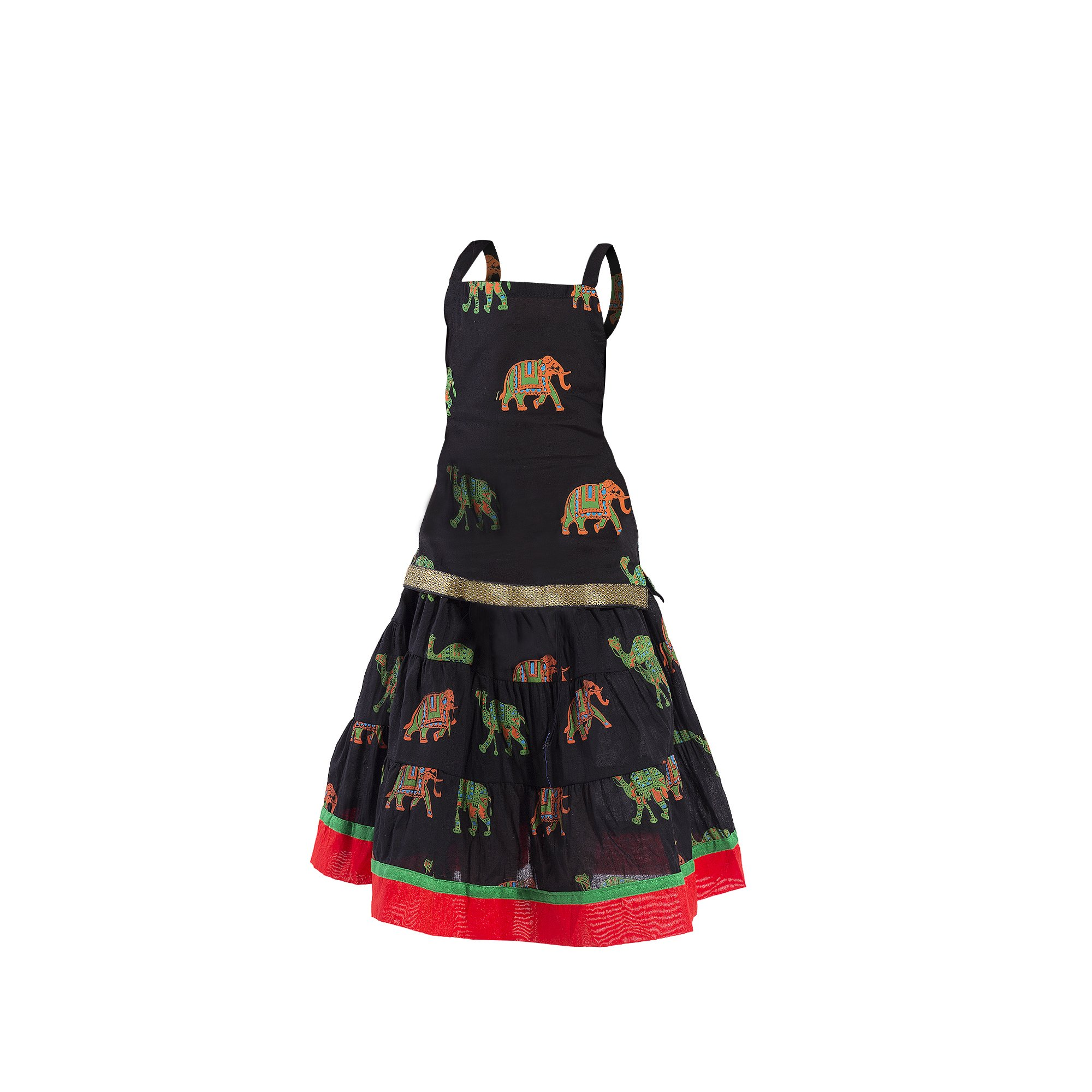 27a503d88c23 Get Quotations · Ethnic set cotton animal printed Lehnga Choli Multi color  Beautiful Kids wear for baby girls