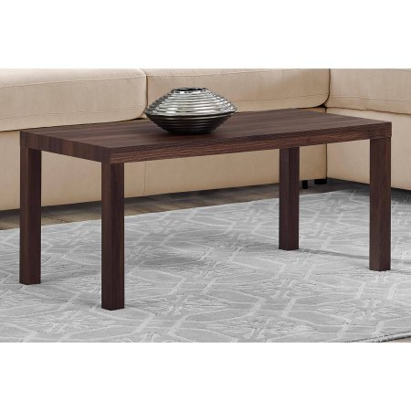 "Mainstays Parsons Lightweight Coffee Table, 39""L x 19""W x 17.5""H, Canyon Walnut"
