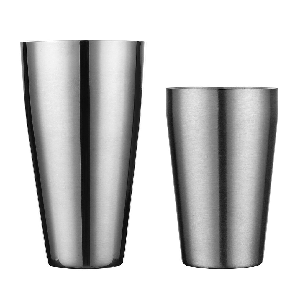 90916d483818 Get Quotations · Boston Shaker by QLL, Professional Stainless Steel Cocktail  Shaker Set, including 20oz Unweighted &