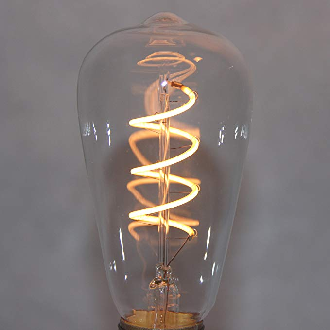 LED Edison Bulbs E27 220V 4W ST64 LED spiral dimmable led lights