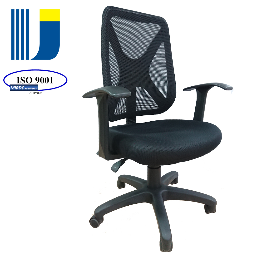 Middle back multifunction office counter swivel task chair with mesh fabric backrest 2370