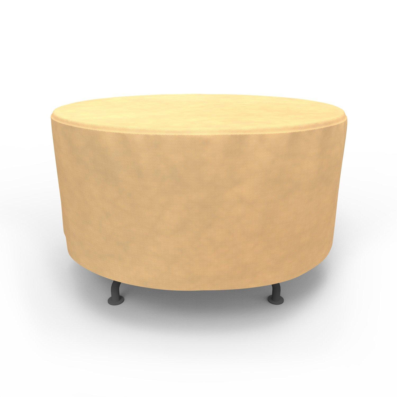 Budge All-Seasons Round Patio Table Cover, Medium (Tan)