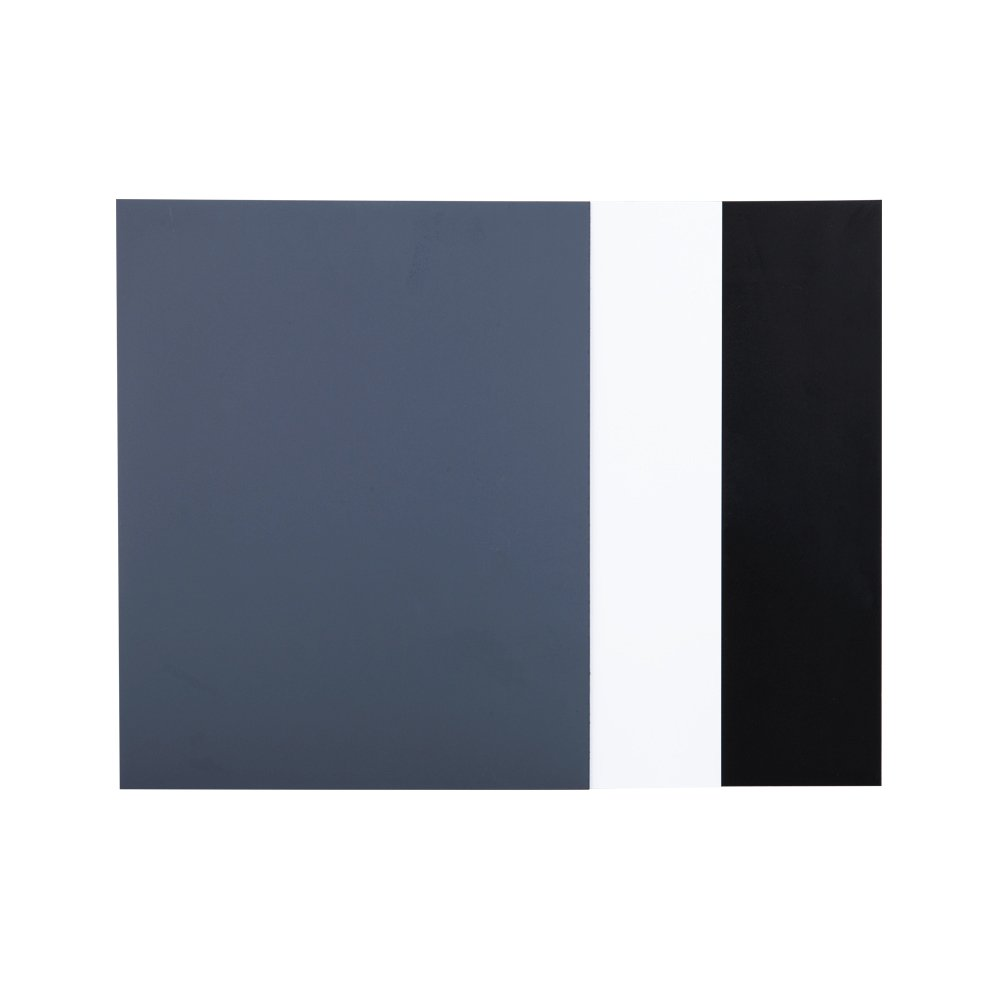"""JJC 10"""" x 8"""" PVC White Balance Card Set for Achieving Perfect Color Balance in Your Photos - Including an 18% Neutral Grey Card, a White Card and a Black Card"""