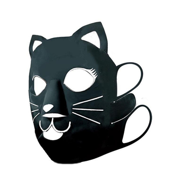 Collagen water-soluble slim cat cute face mask made in japan