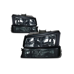 Car Modification for Chevy Silverado 03-06 Head Light + Bumper Signal Lamp Smoke Clear HL-CH912030SM 10366037/ 10366038