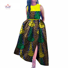 Afrikaanse jurken voor vrouwen dashiki bazin riche stijl femme afrikaanse kleding graceful lady print wax plus size party dress WY3595