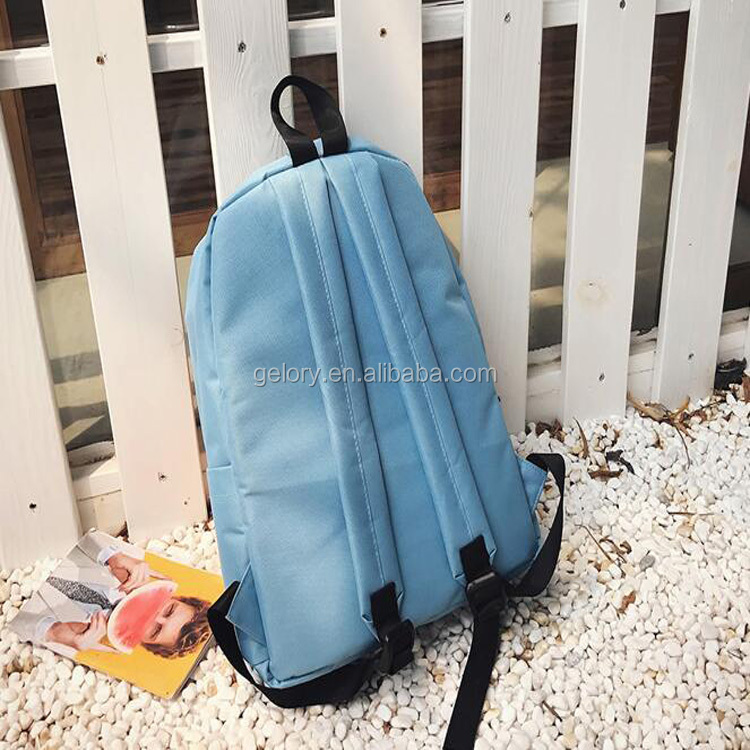 c4e2b552a829 Custom Two-tone colors Day backpack use school bag type 600d backpack