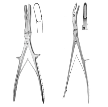 bone rongeurs Forceps gouge Double Action, Orthopedic Surgical Instruments