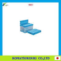 Stackable and foldable Japan SANKO industrial folding container box, storage container and plastic box also available