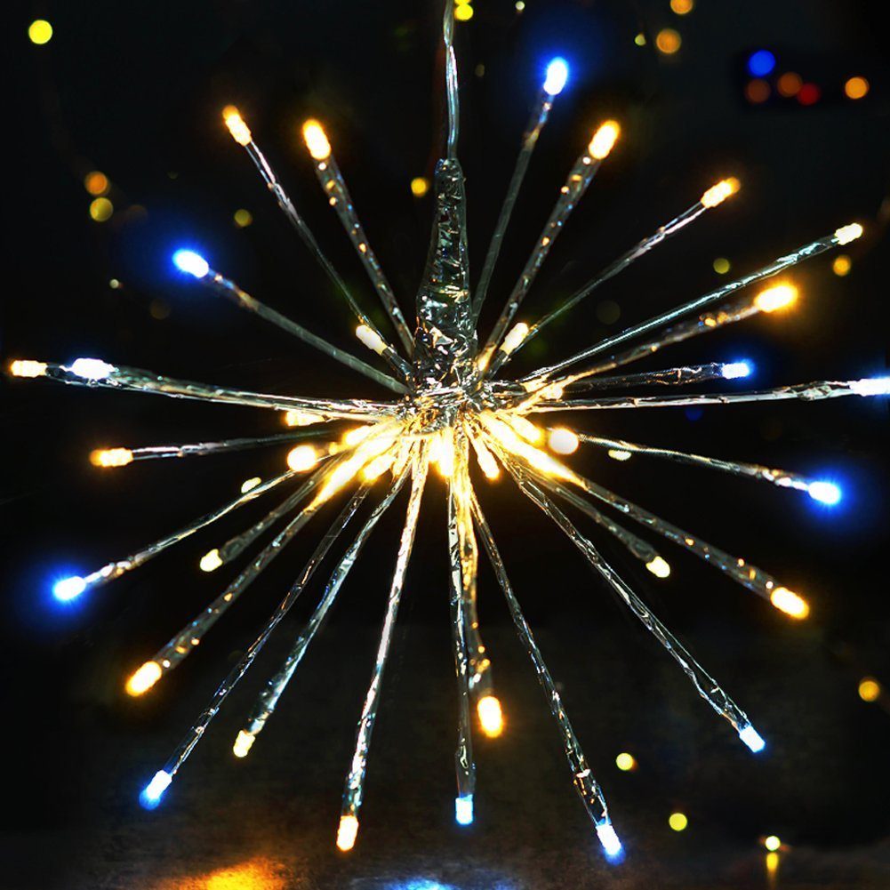 "BRIGHT ZEAL Starburst Christmas Tree Topper (6"" Long Twigs, 40 LED Bulbs) - Christmas Decorations Starburst Christmas Ornaments - Twig Lights Branch Lights Plug in - Decorative Lights Seasonal Decor"