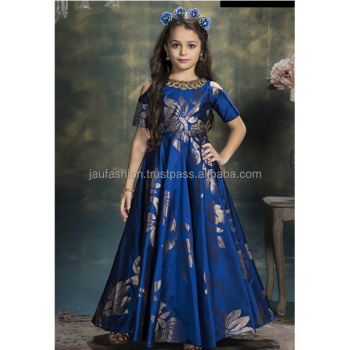 Kids Long Gown / Kids Long Evening Party Wear Gown / Kids Gown ...