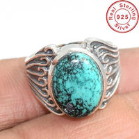 High quality sky Turquoise ring jewelry wholesaler 925 sterling silver ring online silver ring jewelry supplier